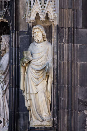 medieval statues cathedral in Cologne, Koln,Germany,2017 스톡 콘텐츠 - 150807103