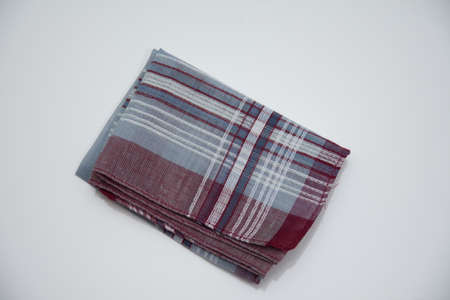 handkerchief with lines on the white background Imagens