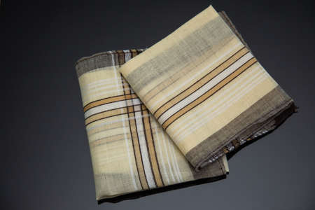 handkerchief with brown lines