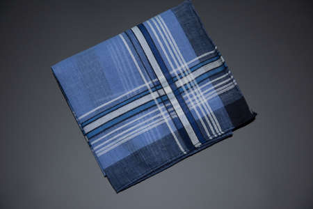 blue Handkerchief isolated on the white background Imagens