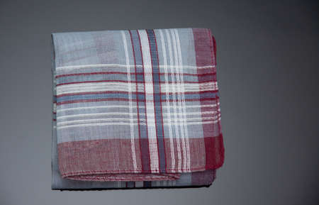 handkerchief with cherry lines on the black  background