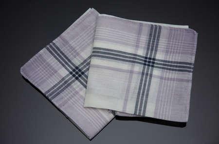 white handkerchief with black lines Imagens