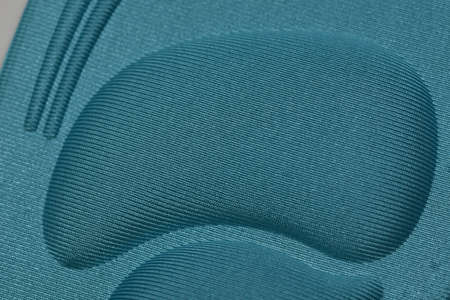 blue Memory Foam  Shoe Insoles on  white background
