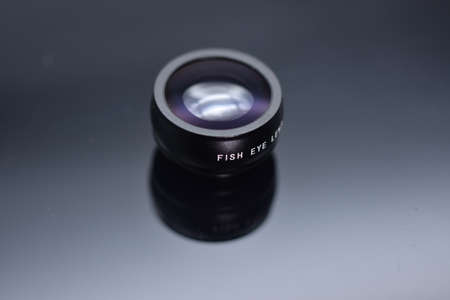 Fish eye filter Mobile Phone Lens 版權商用圖片