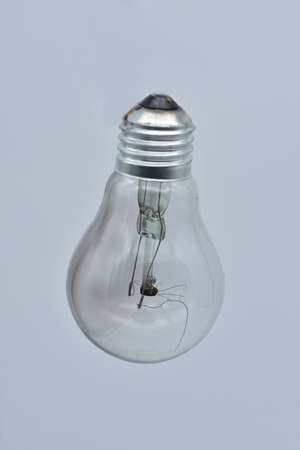 old light bulb with broken tungsten wolfram filament