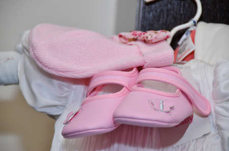 pink Baby shoes for christening