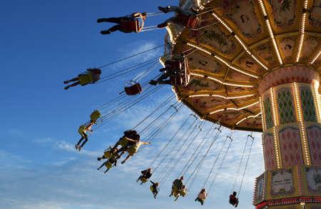flying chair ride in Tivoli, Copenhagen
