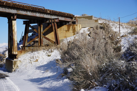 trestle: Old Trestle Stock Photo