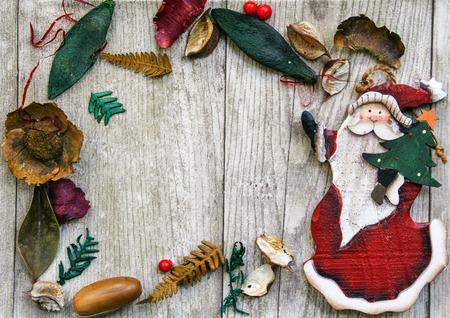 potpourri: Christmas frame with potpourri and Santa Klaus