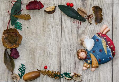 potpourri: Christmas frame with potpourri and angel