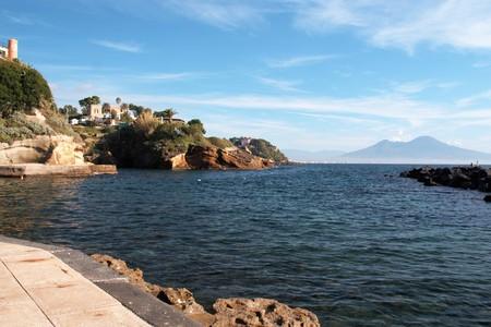 Gaiola protected area, sea and beach, Posillipo, Naples, Italy