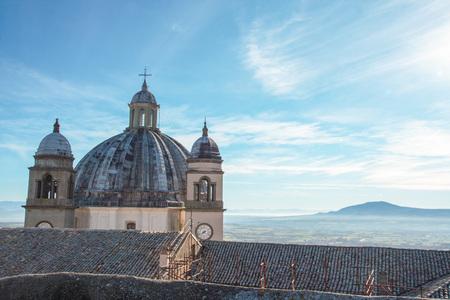 montefiascone cathedral on Bolsena lake, Viterbo, Lazio, Italy Stock Photo