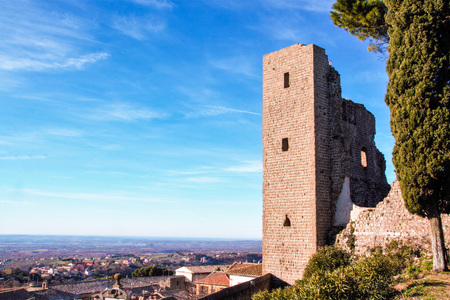 fortress of popes at Montefiascone , Viterbo, Lazio, Italy Editorial