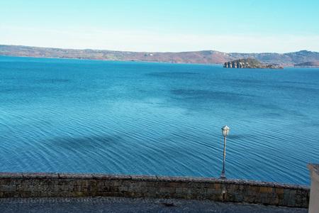 marta: view of  Bolsena lake,  from Capoddimonte , Lazio, Italy