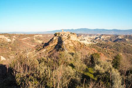 lazio: old abandoned city of civita di bagnoregio, viterbo, lazio, italy