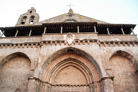 romanesque gothic church of San Flaviano in Montefiascone, Viterbo, Lazio, Italy