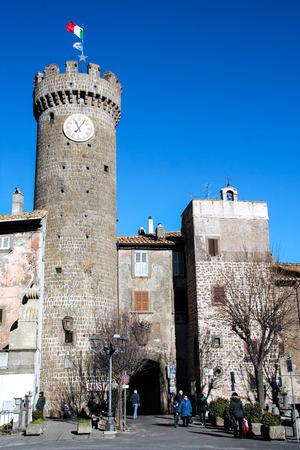 lazio: the small town of Bagnaia, Viterbo, Lazio