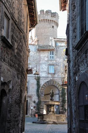lazio: the small town of Bagnaia, Viterbo, Lazio  Stock Photo
