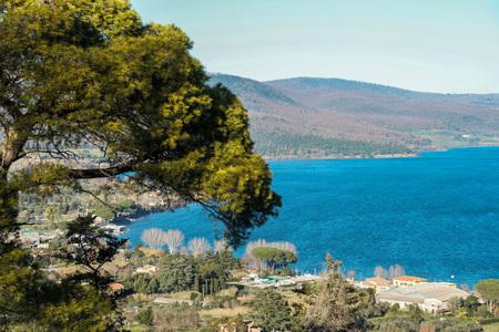 lazio: landscape of Bracciano lake, Rome, Lazio, Italy