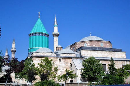 seljuk: Mevlana Museum (1274) is the resting place of the Sufi mystic and poet Rumi in Konya, the capital of the Anatolian Seljuk Sultanate.