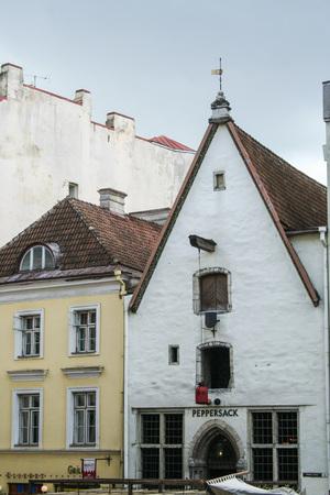 tallin: TALLINN ESTONIA - ON  07252009 - picturesque houses in themedieval town of Tallinn, Estonia Editorial