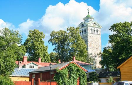 landscape of Ekenas village in Finland 版權商用圖片
