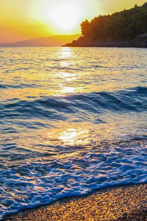 maratea: sunset at Maratea, Basilicata, taly Stock Photo