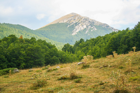 Landscape of Pollino national park, Italy