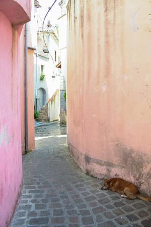 maratea: Historic centre of Maratea, Potenza, Basilicata, Italy
