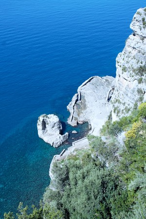tyrrhenian: landscape of sorrentos peninsula and gulf, Naples, Italy