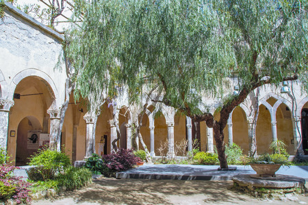 francis: The medieval cloister of Saint  Francis in Sorrento, Naples, Italy Editorial