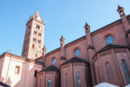 The town of Alba and its towers, Piemonte, Italy 版權商用圖片