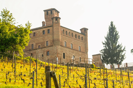 The castle of Grinzane Cavour, Piedmont, Italy Editorial