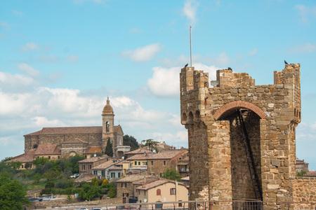 Yhe medieval castle of Montalcino, Siena, Tuscany