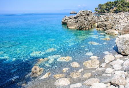작은 베이 Maratea 해안, Basilicata, 이탈리아