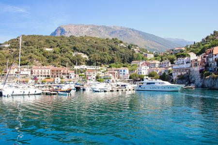 picturesque: AT MARATEA ON 06042017 - The little touristic  port of Maratea, Basilicata, Italy