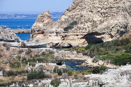 Landscape of Naples coastline and gulf viwed from Posillipo and Pollios villa