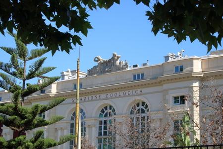 public aquarium: Naples aquarium, zoological station Anton Dohrn in public garden of Naples, the oldest aquarium in Europe