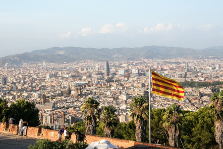 montjuic: AT BARCELONA o - 08282011 - Barcelona cityscape from Monotjuic hill