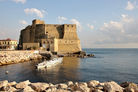 Castel dellOvo and Naples gulf  Stock Photo