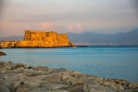 Castel dellOvo and Naples gulf  Stock Photo