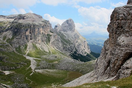 Puez odle  - Alta Badia - Landscape of a gorge in Dolomites mountain in Sud Tyrol, Italy