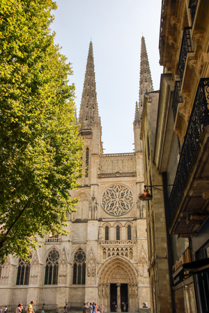 AT BORDEAUX - FRANCE - ON 08252017 - Saint Andrew cathedral at Bordeaux - France