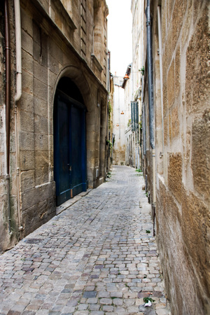a street of historic district of Bordeaux, Unesco world heritage