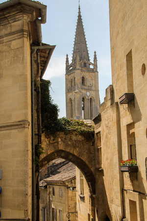 the old village of saint emilion, one of the unesco world heritage sites ,  france Stock Photo