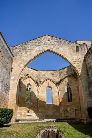 The medieval church and cloister of Les cordeliers at saint emilion, Aquitaine, France