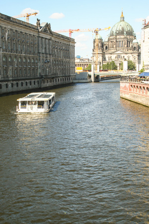 view of Spree river and museum island at Berlin, Germany