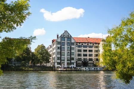 view of Spree riverside at Berlin, Germany