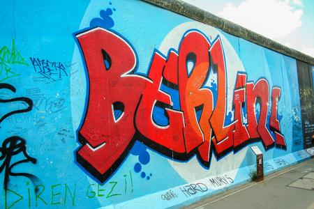 AT BERLIN ON 08262013 - East-Side gallery wall in Berlin  Editorial