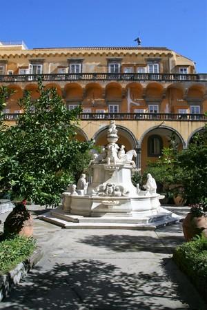 NAPLES , ITALY ON 10162016 The cloister of San Gregorio Armeno, Naples Editorial